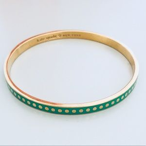 Green and Gold Kate Spade Bangle
